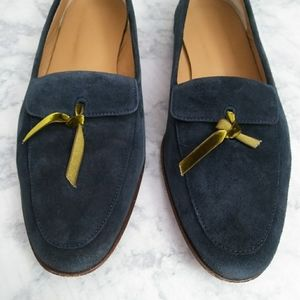 J Crew Blue Suede Loafers/Moccasins